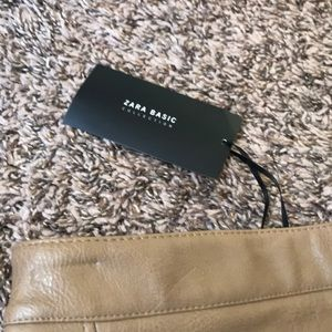 Zara Skirts - Zara brown leather skirt